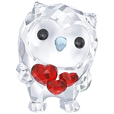 Hoot - I'm In Love - Owl With Red Hearts 2017 Swarovski Crystal #5270271