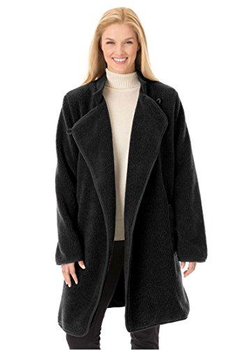 Women's Plus Size Berber Rib Jacket (Berber Coat)
