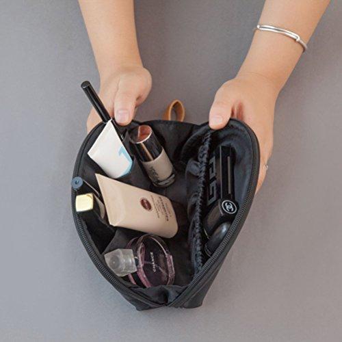 Pixnor Handliche Make-up Tasche Kosmetiktasche Lippenstifte Nägel Polieren Organizer (schwarz) wwFWSmm