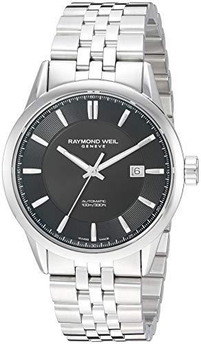 Raymond Weil Men's 2731-ST-20001 Freelancer Analog Display Automatic Self Wind Silver Watch