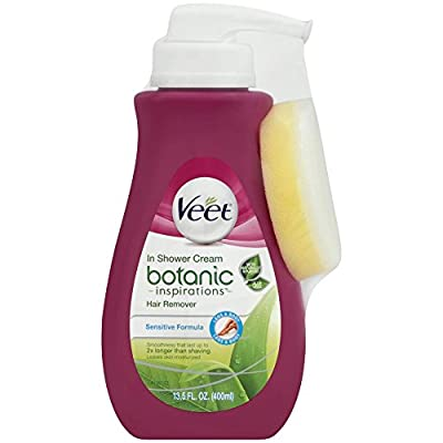 Veet Botanic Inspirations In Shower Cream, 13.5 fl Oz., for Legs & Body (Packaging May Vary)