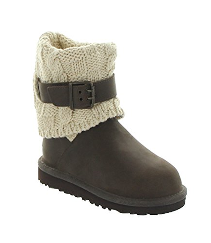 UGG Australia Girl's Cambridge Leather Chocolate Leather Boot 1 M US by UGG