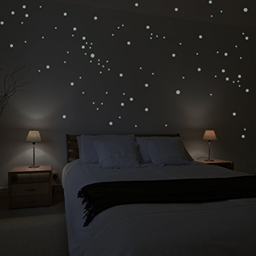 Wandkings Wall Stickers 250 x Fluorescent dots for a Starry Sky Fluorescent and Glow-in-The-Dark