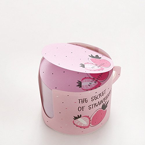 Sticky Notes, Super-Sticky Circular 66cm,Creative Cup Shape,Fruit Design,400 Sheets/Pad (Strawberry)