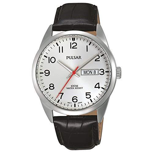 Pulsar Men's Watch Analogue Quartz Leather PJ6065X1 (Pulsar Leather Watch Band)