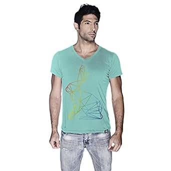 Creo Bunny Animal T-Shirt For Men - M, Green