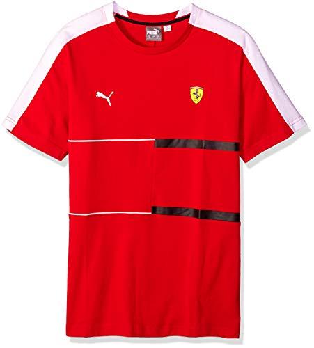 (PUMA Men's Standard Scuderia Ferrari T7 TEE, Soft Pink Rosso Corsa, X-Large)
