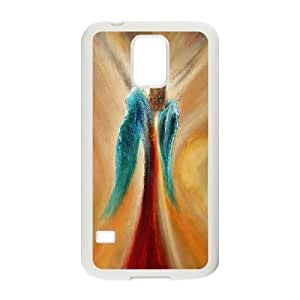 Samsung Galaxy S5 Cases Blue and Red Wings for Boys, Case for Samsung Galaxy S5 Sexyass, {White}