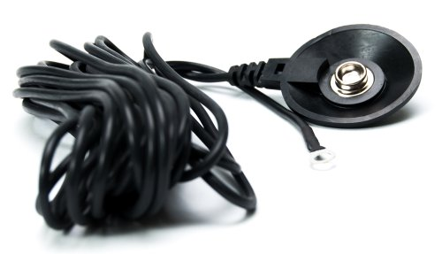 Bertech ESD  Low Profile Grounding Cord, with 10mm Male Snap, 1 meg Resister and a 15' Cord