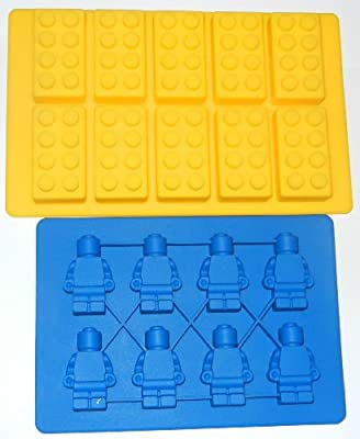 Sorbus Building Bricks and Minifigure Ice Cube Tray or Candy Mold --for Lego lovers