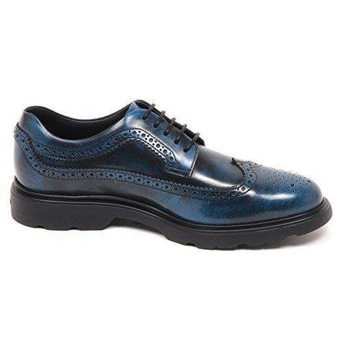 Hogan E4978 Scarpa Inglese Uomo Blu/Nero H304 Scarpe Sfumata Shoe Man blu persia