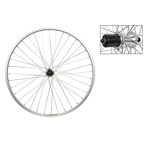 Bike Rear Cassette (Wheel Master Rear Bicycle Wheel 26 x 1.5 36H, Alloy, Quick Release, Silver, 8/9 Speed Cassette)