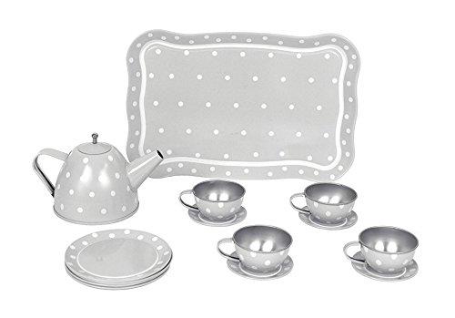 Jabadabado G12014 Tin Tea Set with Case Grey