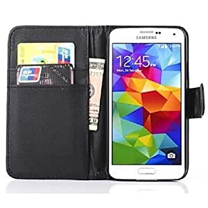 CeeMart Full Body PU Leather Case with Card Slot for Samsung Galaxy S5 I9600 - Brown