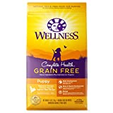 Wellness Natural Pet Food 89147 Complete Health Natural Grain Free Dry Puppy Food, Chicken & Salmon, 4-Pound Bag