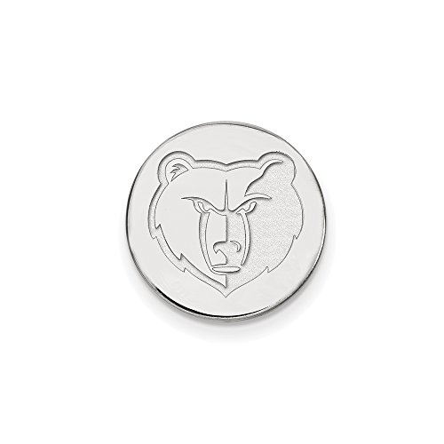 NBA Memphis Grizzlies Lapel Pin in 14K White Gold by LogoArt