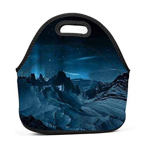 Aslgisy Handbags Tote Fantastic Scenery Moonlight Night Lunch