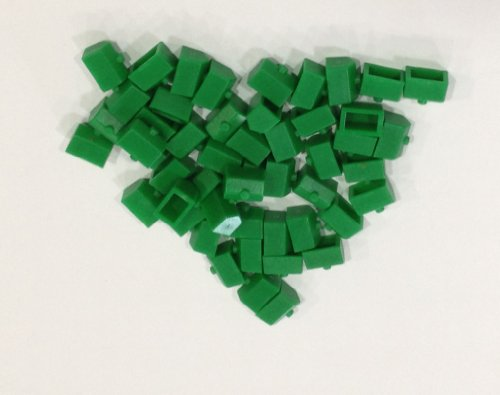 Plastic Houses: Green Color Monopoly Replacement House (Colored Miniature Town & City Buildings, Board Game Playing Pieces) by Morrison (Monopoly Playing Piece)