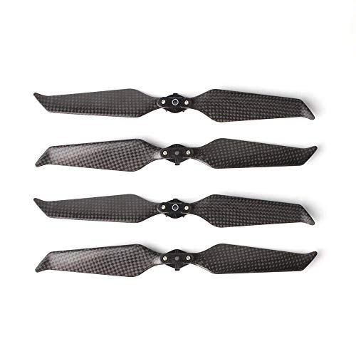 4Pcs 2 Pairs Carbon Fiber 8743F Propellers Blades Low-Noise Quick-Release Foldable New Aerodynamic Design Compatible DJI Mavic 2 Pro/Zoom - Carbon Pro Fiber Stock