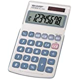 Sharp EL-240SAB 8 Digit Handheld Calculator with Last Call Answer Function