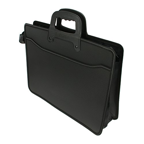 Top Handle Business Briefcase for Office School Travel Use, Oxford Fabric Laptop Computer Bag/A4 Size FILE CASE Document Organizer Carrying Handbag Holder Black