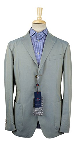 Pal Zileri Concept Blue Linen Blend 3/2 Button Sport Coat Size 50/40 (Linen Blend Three Button Jacket)