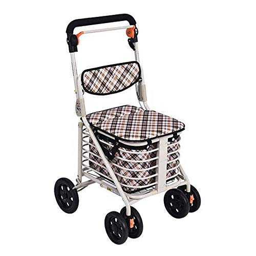 Shopping cart Folding Four-Wheeled Walker Older Old ()
