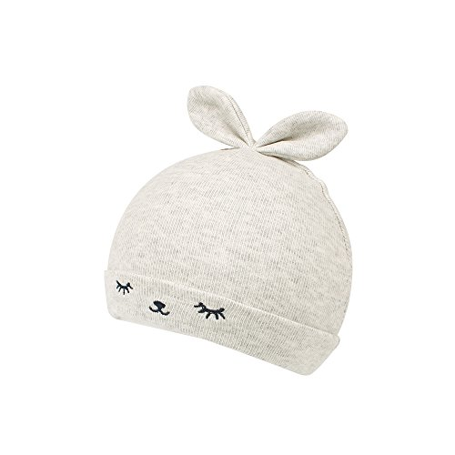 KASULAR Newborn Hat Baby Boys Girls Beanies 0-4Months Squinting Rabbit Ears(Gray)