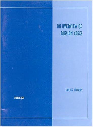 Parhaat iPhonessa ladattavat kirjat An Overview of Russian Cases (Russian Edition) PDF FB2 iBook 0941051331