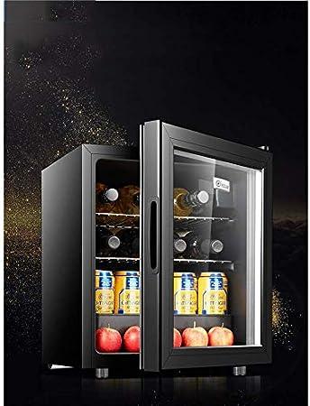 YFGQBCP Pequeño gabinete del Vino, Independiente de Zona Sencilla silenciosa Puerta del refrigerador Vidrio y Sistema de termostato