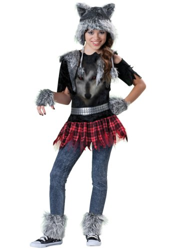 Scary Teen Girl Costumes (Incharacter Costumes Tween Wear Wolf Costume, Grey/Black/Red, Large)