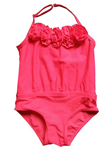 Fashion Baby Infant Little Girl Swimwear One Piece Swimsuits Hot Pink