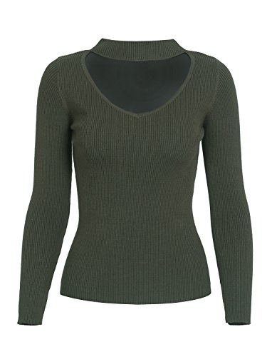 Pull Longues Simplee Apparel Manches Femme Vert 5PxTxYw