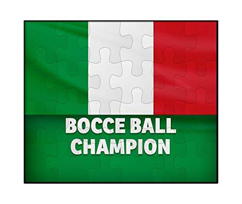3014b8e4 Makoroni - Bocce Ball Champion Italian Italy Flag - Jigsaw Puzzle, 30 pcs.