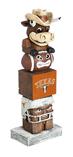Texas Basketball Wood Longhorns - Evergreen NCAA Texas Longhorns Tiki Totem