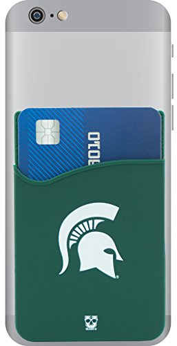 Michigan State Spartans Adhesive Silicone Cell Phone Wallet Card Holder For Iphone  Android  Samsung Galaxy  Most Smartphones