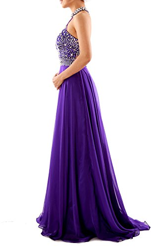 Sleeveless High Halter MACloth Long Weinrot Dress Neck Gown Party Women Evening Prom IgqwCA