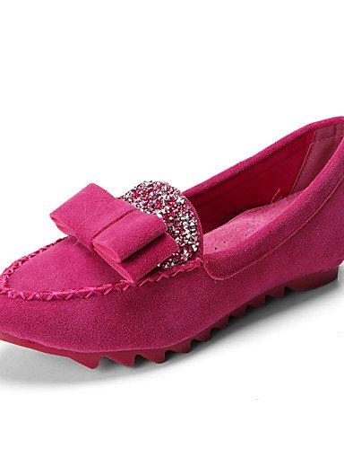 PDX/ Damenschuhe - Ballerinas - Lässig - Wildleder - Flacher Absatz - Mokassin / Rundeschuh / Geschlossene Zehe - Schwarz / Blau / Rosa / Lila , pink-us8 / eu39 / uk6 / cn39 , pink-us8 / eu39 / uk6 /