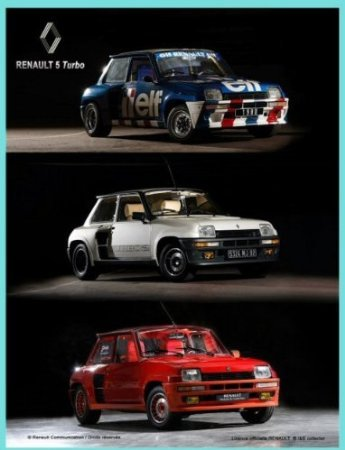 FRENCH VINTAGE METAL SIGN 20x15cm RETRO AD RENAULT 5 TURBO CAR