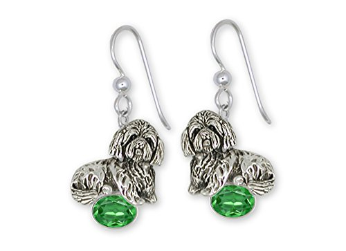 Lhasa Apso Jewelry Sterling Silver Lhasa Apso Earrings Handmade Dog Jewelry LSZ18-SE