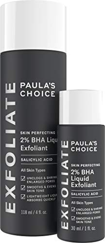 Liquid Scrub - Paula's Choice-SKIN PERFECTING 2% BHA Liquid Salicylic Acid Exfoliant Duo Gentle Leave-On Exfoliant, Includes a Full Size Bottle and a Travel Size Bottle - Set of 2