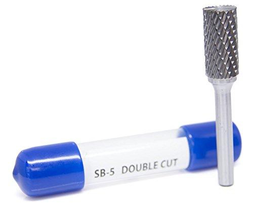 SB-5 Cylinder Shape End Cut - Premium Double Cut Tungsten Carbide Burr by Benchmark Abrasives