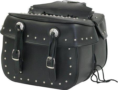 Motorcycle Detachable Saddlebags Saddle Bags for Harley, Yamaha, Suzuki, Honda ()