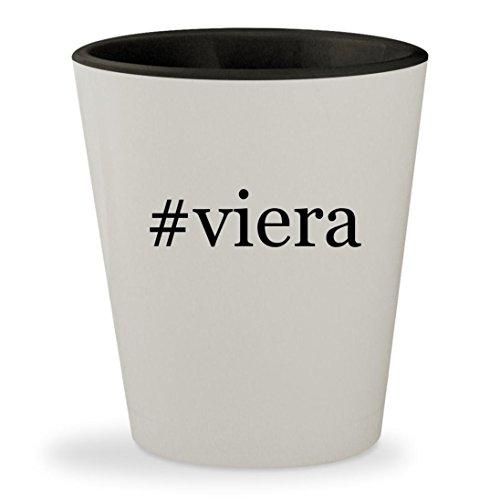 32 Viera Tv - #viera - Hashtag White Outer & Black Inner Ceramic 1.5oz Shot Glass