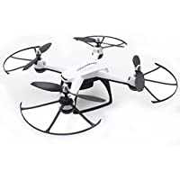 Peniya DM009 FPV Real-time RC Drone 2.4GHz WIFI 6 Axis Quadcopter Helicopter with 0.3MP Camera &Transmitter,LED Night Light,Wireless Remote Control,White + Free 4G Memory Card