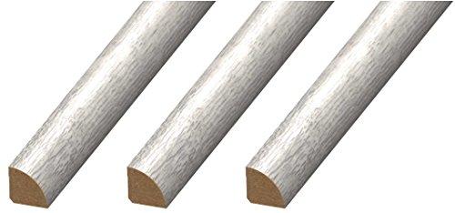 Cal-Flor MD20113 Quarter Round Floor Molding, 3 Pack, Light Gray, 3 Each