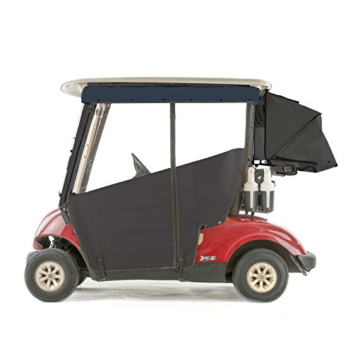 Yamaha G29 Drive Golf Cart PRO-TOURING Sunbrella Track Enclosure - Black-NVY