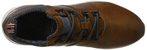 Bugatti 321342011210, Zapatillas para Hombre Marrón (Cognac/ Dark Blue)