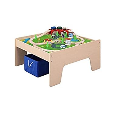 Amazoncom Maxim 38284 Wooden Activity Table With 45 Piece Train