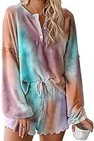 Astylish Womens Long Sleeve Sof 2 Piece Short Pajamas Set Nightwear Sleepwear Loungewear